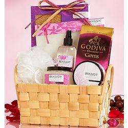 Lovin' Luxury Spa Gift Basket and Godiva Chocolate