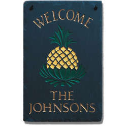 Personalized Pineapple Welcome Plaque