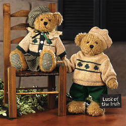 Plush Paddy's Girl Decorative Teddy Bear