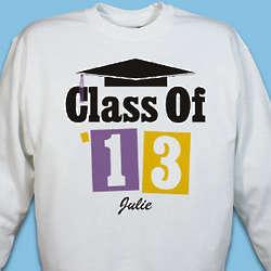 Personalized Class of 2013 Graduation Sweatshirt