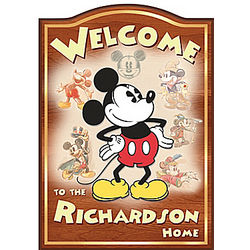 Personalized 1920s Mickey Mouse Welcome Sign