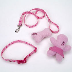 Breast Cancer Awareness Pet Leash and Toys
