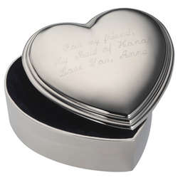 Lift-Top Engravable Heart Jewel Box