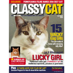 Personalized Cat Magazine Cover Label