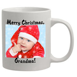 Personalized Christmas Photo Grandma Coffee Mug