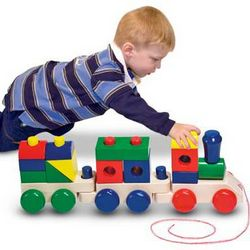 Wooden Train Personalized Playset