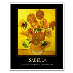 Isabella Vincent Van Gogh Sunflowers Personalized Art Print