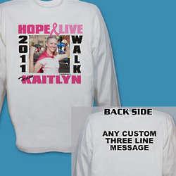 Breast Cancer Walk Photo Long Sleeve Shirt