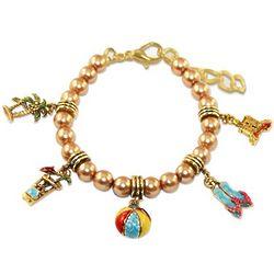 Gold Fun in the Sun Charm Bracelet