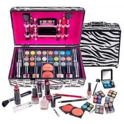 Shany Carry All Pro Makeup in Zebra Train Case