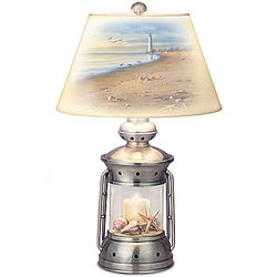 Coastal Treasures Lantern Table Lamp with James Hautman Art Shade