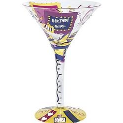 Birthday Girl Martini Glass