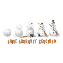 Some Assembly Required Snowman Adult T-Shirt