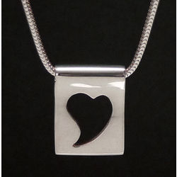 Sterling Silver Silhouette Heart Pendant
