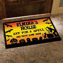 """Personalized Halloween Doormat - 18"""" x 27"""""""