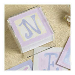 Personalized Stationary Pastel Initial Memo Sheets