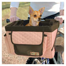 Front Bike Basket in Pink/Grey