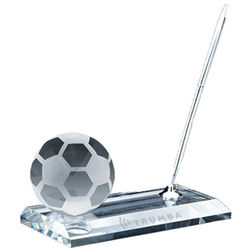 Crystal Soccer Ball Pen Set Award