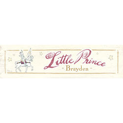 Personalized Little Prince Plaque