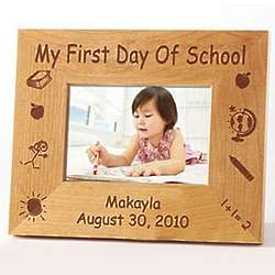Personalized First Day of School Frame