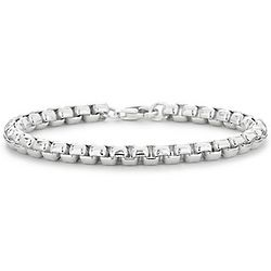 Sterling Silver Rounded Venetian Bracelet
