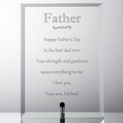 Dad's Personalized Glass Plaque