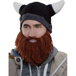 Beard Head Barbarian Looter Hat with Brown Beard