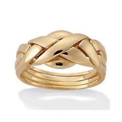 Gold Plated Puzzle Ring
