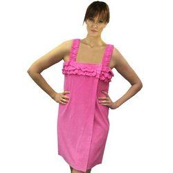 Women's Knit Terry Ruffle Wrap