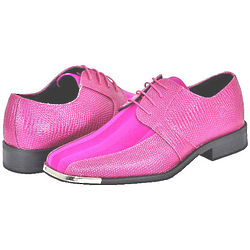 Men's Fuchsia Dress Shoes