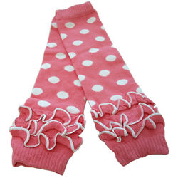 Baby's Polka Dots and Ruffles Leg Warmers