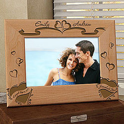We are Engaged Personalized Wooden Frame