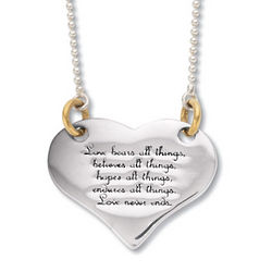 Corinthians Heart Pendant