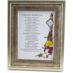 Children Live What They Learn Framed Poem