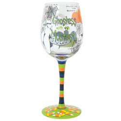 Handpainted Ghostess Wine Glass