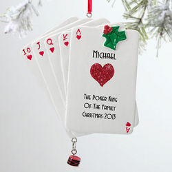Personalized Poker Christmas Ornament