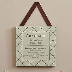Personalized Bible Verse Graduate Plaque
