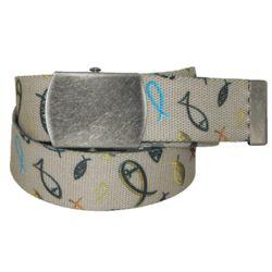 Christian Fish Fabric Belt
