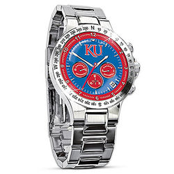 Men's Kansas Jayhawks Commemorative Chronograph Watch