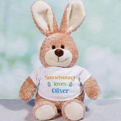 Brown Easter Bunny Plush