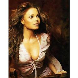 Janet Jackson Oil Painting Art Print