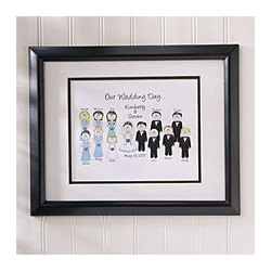 Personalized Wedding Character Framed Print