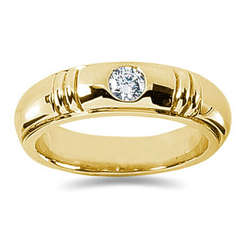 0.40 ctw Men's Diamond Ring in 18K Yellow Gold