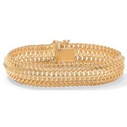 Gold Over Silver Saduza-Link Bracelet