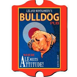 Personalized Vintage Bulldog Pub Sign