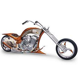 Free Spirit Eagle Art Motorcycle Chopper Figurine