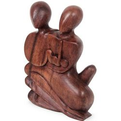 Family Love Wood Statuette