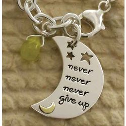 Never, Never, Never Give Up Charm Bracelet