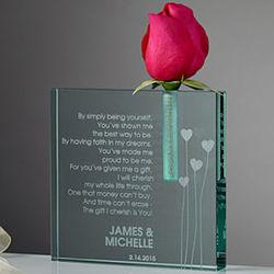 Personalized Valentine Heart Bud Vase