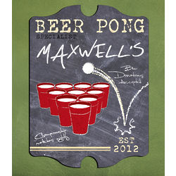 Personalized Vintage Beer Pong Specialist Pub Sign